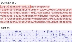 Datapakketje zonder SSL - Webprof
