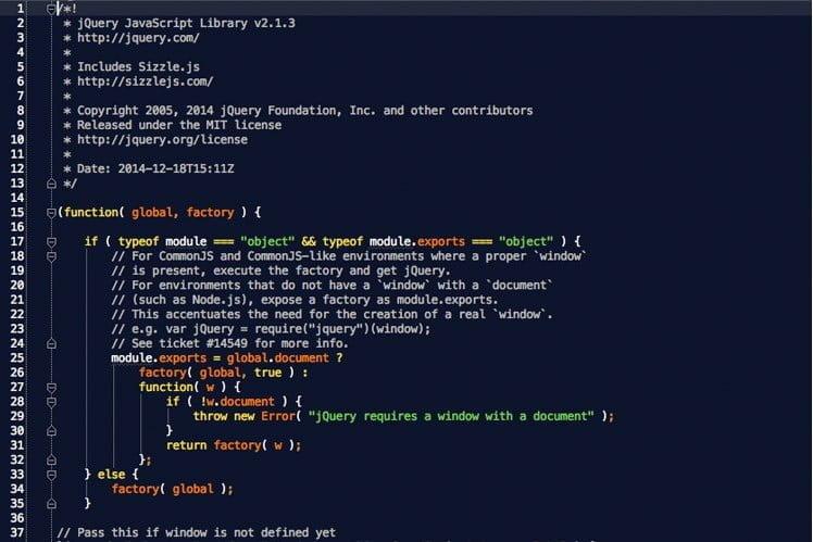 jQuery-bestand groot webprof