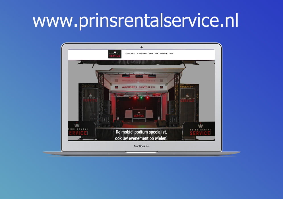 Webprof-prins-rental-service